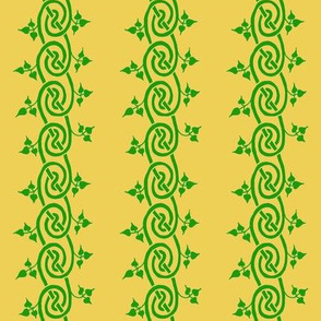 celtic ivy border green gold
