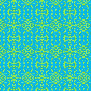 Turquoise-Lime ala Geometrics