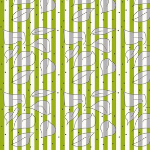 Paper Leaves Green