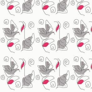 Paper Poppies Grey