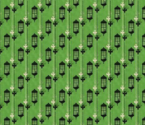 Rainy Fleurs - Vert fabric by siya on Spoonflower - custom fabric