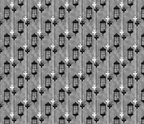 Rainy Fleurs - Gris fabric by siya on Spoonflower - custom fabric