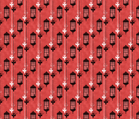 Rainy Fleurs - Rouge fabric by siya on Spoonflower - custom fabric