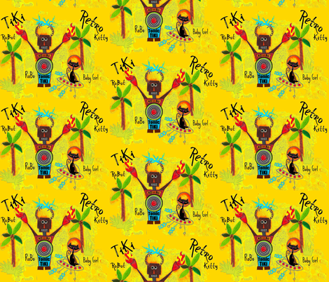 RoBo TiKi yellow fabric by paragonstudios on Spoonflower - custom fabric