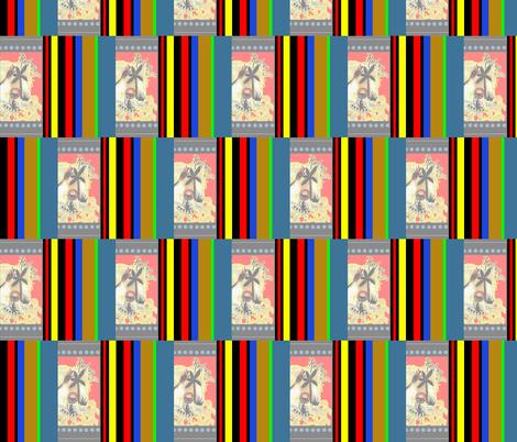 RoBoTiKi /Retro Kitty fabric by paragonstudios on Spoonflower - custom fabric