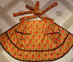 Lobster Tale - a cut-and-sew ripple apron pattern