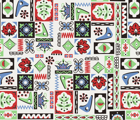 Modern Living fabric by thirdhalfstudios on Spoonflower - custom fabric