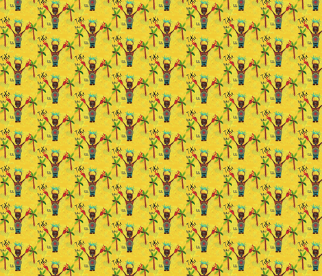 RoBoTomic TiKi fabric by paragonstudios on Spoonflower - custom fabric