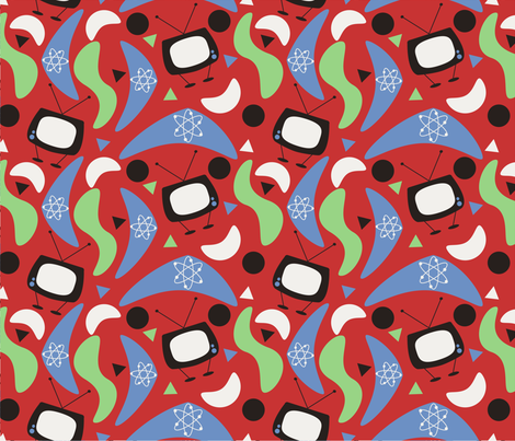 50s_tv_time fabric by deesignor on Spoonflower - custom fabric