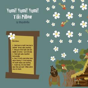 Yumi! Yumi! Yumi! Tiki Pillow