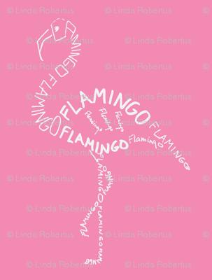 Flamingo Calligram