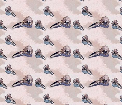 Crow Skulls  fabric by helenklebesadel on Spoonflower - custom fabric