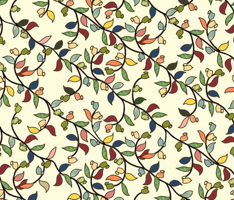 Painted Vine fabric by juliamonroe on Spoonflower - custom fabric