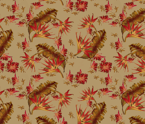 South beach floral fabric by paragonstudios on Spoonflower - custom fabric