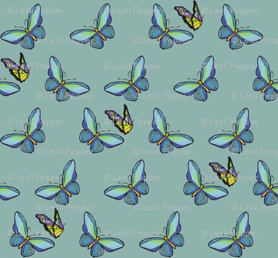 Butterflies Scatter-aqua