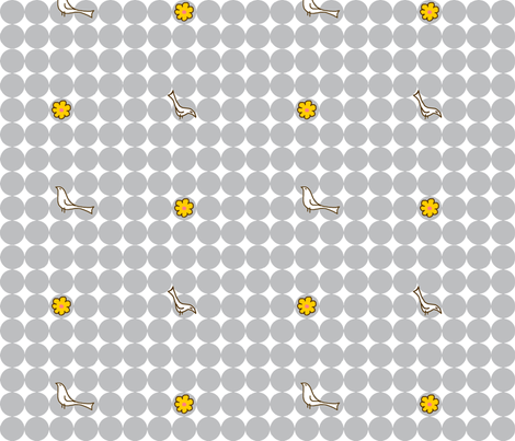 Gray Merriweather Dots fabric by mandyd on Spoonflower - custom fabric