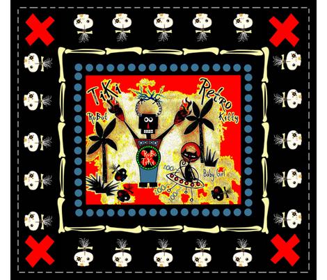 RoBoTiKi / Zombie skull fabric by paragonstudios on Spoonflower - custom fabric