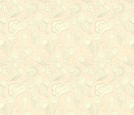 Ghostly Paisley in Dust to Dust fabric by beeskneesindustries on Spoonflower - custom fabric