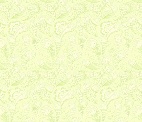 Ghostly Paisley in Ectoplasm fabric by beeskneesindustries on Spoonflower - custom fabric