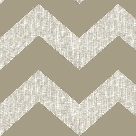 Chevron burlap / mushroom  fabric by paragonstudios on Spoonflower - custom fabric