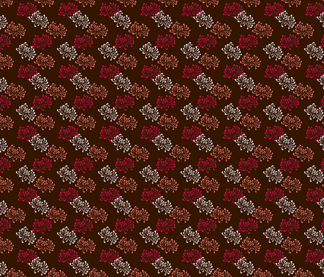 oriental coffee fabric by thickblackoutline on Spoonflower - custom fabric