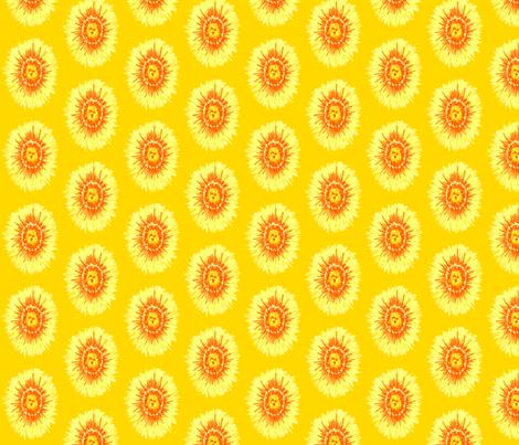 Yellow Flower fabric by siya on Spoonflower - custom fabric