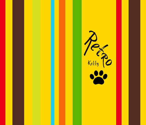 Retro Kitty fabric by paragonstudios on Spoonflower - custom fabric
