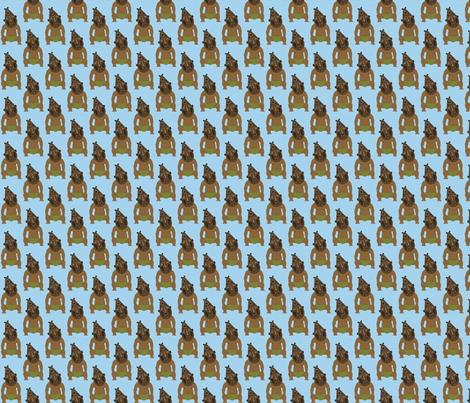 Tiki Man on Light Blue fabric by mayabella on Spoonflower - custom fabric