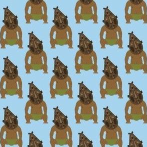 Tiki Man on Light Blue