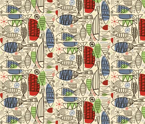 Atomic Fish fabric by brightonbelle on Spoonflower - custom fabric