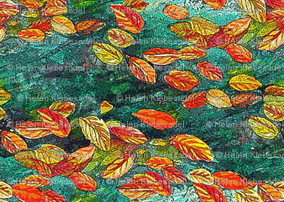 Mirror Autumn Leaf Calico