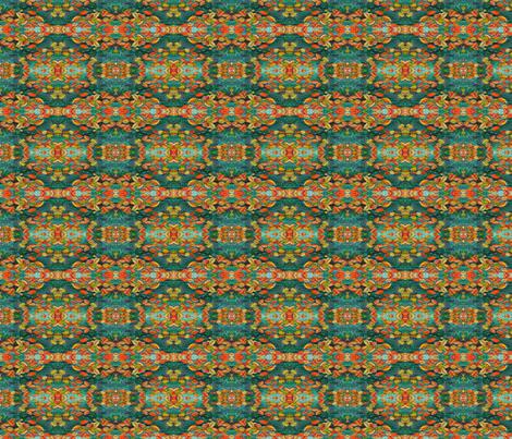 Mirror Autumn Leaf Calico fabric by helenklebesadel on Spoonflower - custom fabric