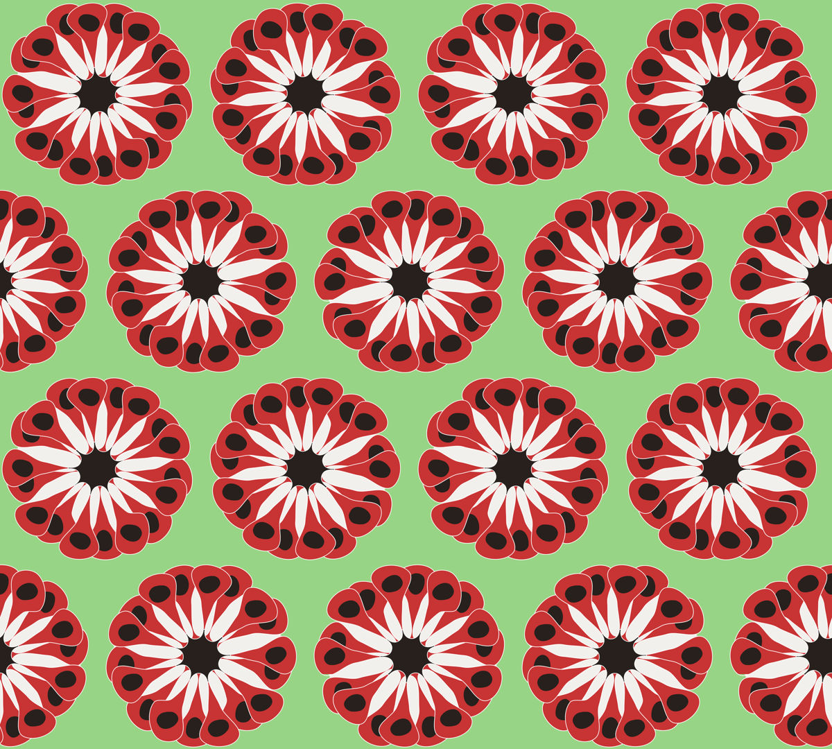Red Poppies fabric by stephane on Spoonflower - custom fabric
