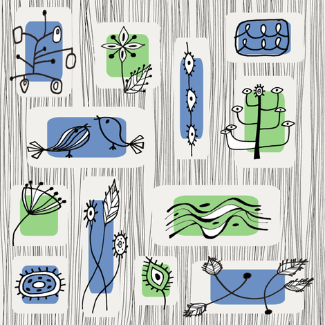 fifties graphic nature fabric fabric by uzumakijo on Spoonflower - custom fabric