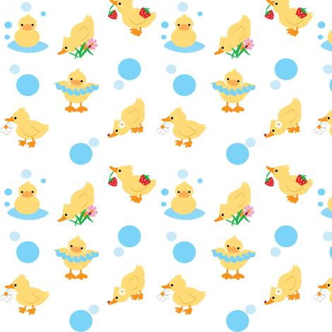 Duckies fabric by kiwicuties on Spoonflower - custom fabric