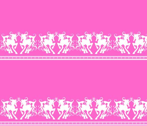 Unicorn Border 2 fabric by jadegordon on Spoonflower - custom fabric