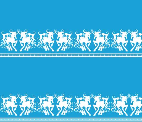 Unicorn Border 1 B fabric by jadegordon on Spoonflower - custom fabric