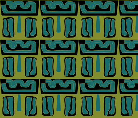 Tiki Time fabric by sbd on Spoonflower - custom fabric