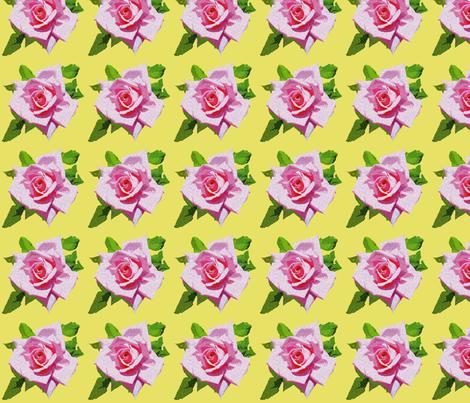 Vintage Rose Yellow fabric by bunni on Spoonflower - custom fabric