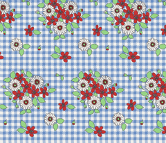 50s_flowers_on_blue_gingham