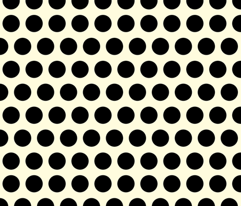 Black Dots fabric by juliamonroe on Spoonflower - custom fabric