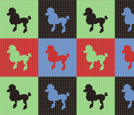 pop_art_poodles fabric by janephilipps on Spoonflower - custom fabric