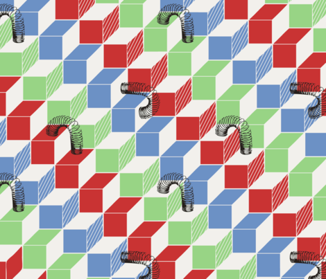 Slinky - Do You Remember? fabric by annosch on Spoonflower - custom fabric