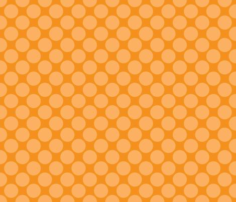 Orange Circus Polk fabric by mayabella on Spoonflower - custom fabric