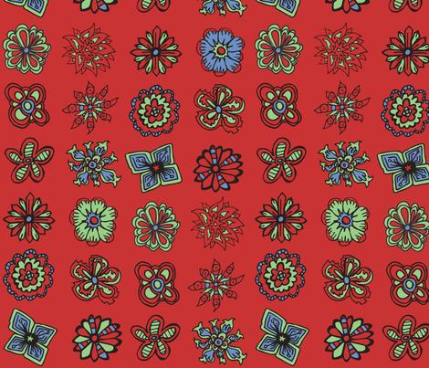 50s Flowers fabric by antonybriggs on Spoonflower - custom fabric