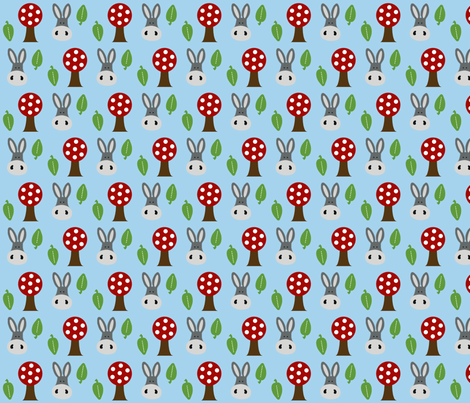 Charlie the Donkey in the Forest fabric by mayabella on Spoonflower - custom fabric