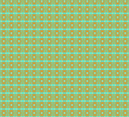 Wedding Cake, aqua and orange fabric by frances_hollidayalford on Spoonflower - custom fabric