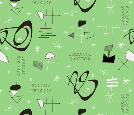 Fifties abstract fabric by leonielovesyou on Spoonflower - custom fabric