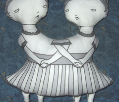 The Pact doll panel B&W