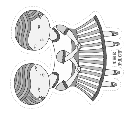 The Pact doll panel B&W fabric by beeskneesindustries on Spoonflower - custom fabric